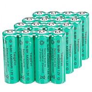 16Pcs TangsFire AA 3000mAh 1.2V Rechargeable Ni-MH Battery Green