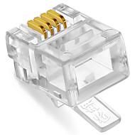 shengwei® rc-1050 RJ11 plug 4c 50st för telefon
