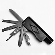 lega di alluminio apribottiglie / lame / chiavi / seghe comodo 11 Metodo di torcia a LED multitools campeggio all'aria aperta