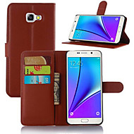 Varten Samsung Galaxy kotelo Korttikotelo Tuella Flip Magneetti Etui Kokonaan peittävä Etui Yksivärinen Tekonahka varten SamsungA5 (2017)