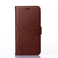 Na Samsung Galaxy Etui Etui Pokrowce Etui na karty Portfel Z podpórką Flip Wytłaczany wzór Futerał Kılıf Kwiaty Sztuczna skóra na Samsung