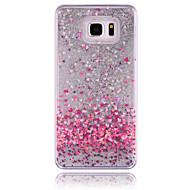 For Samsung Galaxy Note Flydende væske Etui Bagcover Etui Hjerte PC for Samsung Note 5 Note 4 Note 3