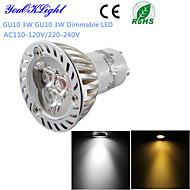 YouOKLight® 1PCS Dimmable LED 3W GU10 260LM 3000K Warm White/ 6000K White Light  Spotlight Bulb-(AC110-120V/220-240V)