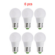 6pcs Kakanuo LED Bulb Light E26/E27 3W 15XSMD2835 270lm Warm White/ Cool White/ Natural White A50 Globe Bulbs AC85-265V