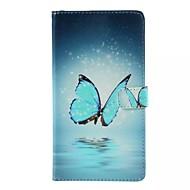 Voor Samsung Galaxy hoesje Kaarthouder / Portemonnee / met standaard / Flip hoesje Volledige behuizing hoesje Vlinder PU-leer SamsungJ7 /