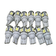 egy tucat T10 LED izzók autó LED helyzetjelző lámpa W5W LED olvasólámpa W5W belső led t10 5050 5smd vezetett