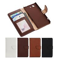 pu læder full body taske med kort slot og Tegnebog og stå til Sony Xperia Z3 kompakt / z3 mini