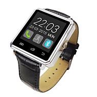 """bluetooth v4.0 läderband metallhölje 1,44 """"tft smart klocka med stegräknare sova tracker"""