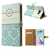 For Samsung Galaxy Case Wallet / Card Holder / with Stand / Flip Case Full Body Case Flower PU Leather SamsungS7 edge plus / S7 edge / S7