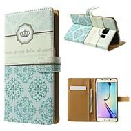 Для Кейс для  Samsung Galaxy Кошелек / Бумажник для карт / со стендом / Флип Кейс для Чехол Кейс для Цветы Искусственная кожа SamsungS7