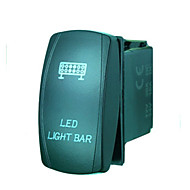 Iztoss 5Pin LASER led light bar Rocker Switch ON-OFF LED Light 20A 12V Blue with wires to install