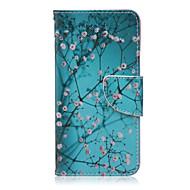 Voor LG hoesje Kaarthouder / Portemonnee / met standaard / Flip hoesje Volledige behuizing hoesje Bloem Hard PU-leer LG LG Nexus 5X