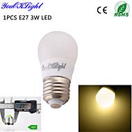 YouOKLight® 1PCS E27 3W 6*5730 260LM Warm white Light Energy saving  high quality Ceramic LED bulbs AC110-120V/220-240V