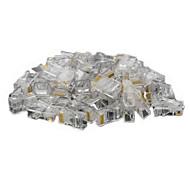 rj45 8pin abs modulärt stickkontaktdon transparent 50 st