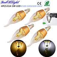 3W E14 Ampoules Bougies LED CA35 16 SMD 2835 260 lm Blanc Chaud / Blanc Froid Décorative AC 100-240 / AC 110-130 V 4 pièces