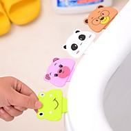 tecknad toalett täcka lyftanordning badrum toalett lock bärbara badrum toalettsitsen clamshell hållaren (slumpmässig färg)