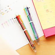 Kuglepen Pen Kuglepenne Pen,Plastik Tønde Rød Sort Blå Gul Guld Grøn Blæk Farver For Skoleartikler Kontorartikler Pakke med