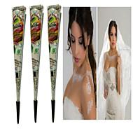 halloween 3pcs witte henna kegels tatoo buis indian tijdelijke tattoo body paint voor bruids& huwelijk