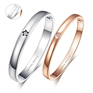 presentes do dia dos namorados personalizado pulseiras de ouro / prata jóias amantes de titânio de aço (um par)