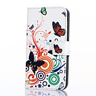 Na Samsung Galaxy Etui Etui na karty / Portfel / Z podpórką / Flip / Wzór Kılıf Futerał Kılıf Motyl Skóra PU SamsungOn 7 / On 5 / J3 / J1