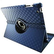דפוס יהלומים באיכות גבוהה pu להגן נרתיק עם סיבוב של 360 מעלות עבור iPad 2/3/4