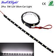 youoklight® 2 stuks 5W 12v 30cm LED DRL 100% waterdicht 5050 smd auto auto decoratieve flexibele led strip mistlamp