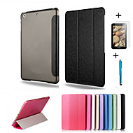 Smart Cover Leather Case + PC Translucent Back Case For Apple ipad mini 4 +Free Gift Protector Film+Touch Pen