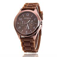 Xu™ Damen Modeuhr Armbanduhren für den Alltag Quartz Silikon Band Schwarz Weiß Blau Rot Braun Grün Rosa Lila