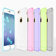 Para Funda iPhone 6 / Funda iPhone 6 Plus Ultrafina / Congelada / Traslúcido Funda Cubierta Trasera Funda Un Color Suave SiliconaiPhone