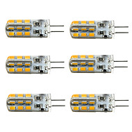 6pcs Dimmable G4 3W 24x2835SMD 180LM 3000K/6000K Warm White/Cool White Light LED Corn Bulb(DC12V)