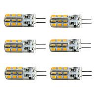 3W G4 Bombillas LED de Mazorca T 24 SMD 2835 160-190 lm Blanco Cálido / Blanco Fresco Regulable DC 12 V 6 piezas