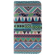 Na Samsung Galaxy Etui Etui na karty / Z podpórką / Flip / Magnetyczne / Wzór Kılıf Futerał Kılıf Geometryczny wzór Skóra PU Samsung