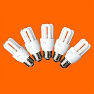 5 pcs FSL® E26/E27 T3 3U 8W 300LM 6500K Cool White Light CFL Bulbs (AC220V)