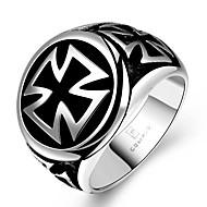 Męskie Duże pierścionki Biżuteria Unikalny Modny biżuteria kostiumowa Stal nierdzewna Circle Shape Cross Shape Geometric Shape Biżuteria