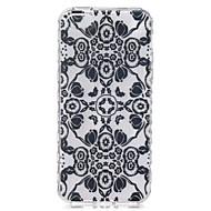 Black Flowers Pattern On The Half-Slip TPU Phone Case for iPhone SE