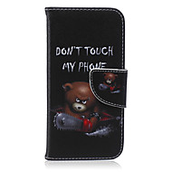 For iPhone 6 Case / iPhone 6 Plus Case Wallet / Card Holder / with Stand / Flip / Pattern Case Full Body Case Word / Phrase HardPU