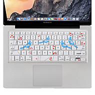 xskn MacBook Proの空気/ 13 15 17インチ、私たちのレイアウトのための鳥のキーボードカバーシリコンスキンプロテクターを歌います