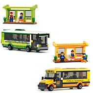 smart bybuss lykkelig barn glede plast format montering byggestein leketøy for gutter byggeklosser murstein leketøy modell