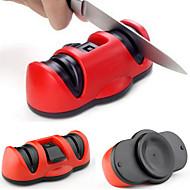 2in1 2 spidsere keramisk grove&wolfram stål fin kniv blyantspidser med sikker sugekop for kniv saks værktøj