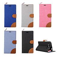 Voor Samsung Galaxy hoesje Kaarthouder / met standaard / Flip hoesje Volledige behuizing hoesje Effen kleur PU-leer SamsungOn 7 / On 5 /