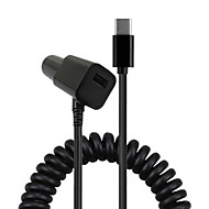Cwxuan® Spring USB 3.1 Type-C 5V 2A Car Charger Cable