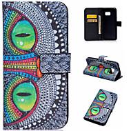 For Samsung Galaxy etui Kortholder Med stativ Flip Mønster Magnetisk Etui Heldækkende Etui Kat Kunstlæder for Samsung A5(2016) A3(2016)