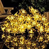 konge ro 30led lotus batteri ledet streng lys utendørs vanntett string lys (kl0013-rgb, hvit, varm hvit)