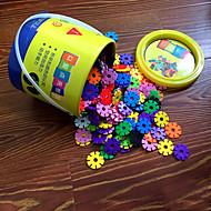 3,3cm snøflakene bøtte satt byggeklosser byggesett DIY leketøy (300pcs)