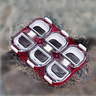 puede ser empalmado cuadro de gancho de 6 celdas con la pesca de plástico resistente al agua imán trastos boxe 1piece