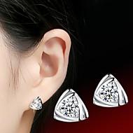 Kolczyki na sztyft Kamienie zodiakalne Srebro standardowe Biżuteria Na Ślub Impreza Codzienny Casual Sport 1szt