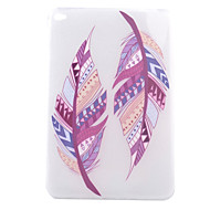 Double Feather Pattern TPU Soft Back Tablet Case for iPad Mini 4