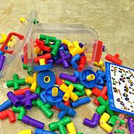 montering plastrør store boksen satt byggesteinene bygning kit DIY leketøy (88pcs)