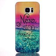 Mert Samsung Galaxy S7 Edge Minta Case Hátlap Case Látvány PC Samsung S7 edge plus / S7 edge / S7