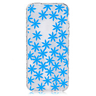 Blue Flowers Pattern On The Half-Slip TPU Phone Case for iPhone SE